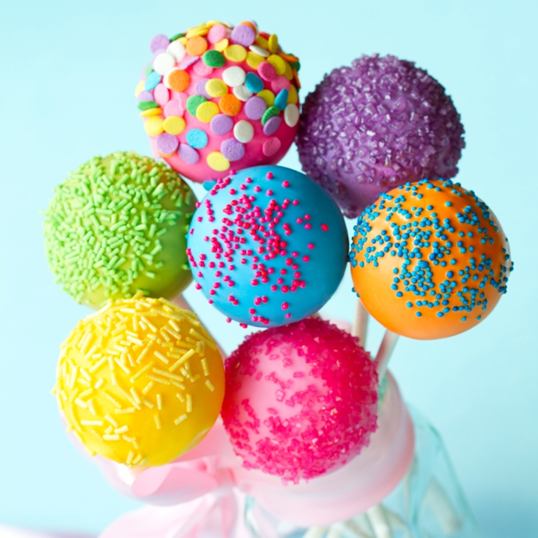 Colorful And Delicious Cake Pops