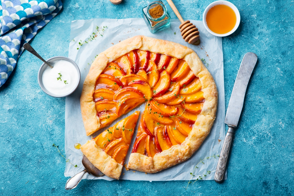 French Galette With Peaches