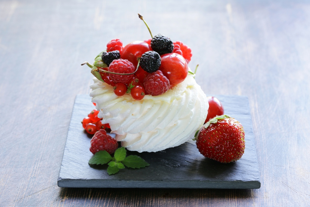 Berry And Cherry Pavlova