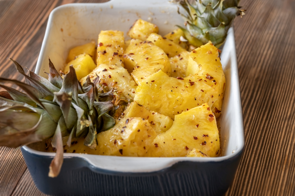 Spiced and Baked Pineapple