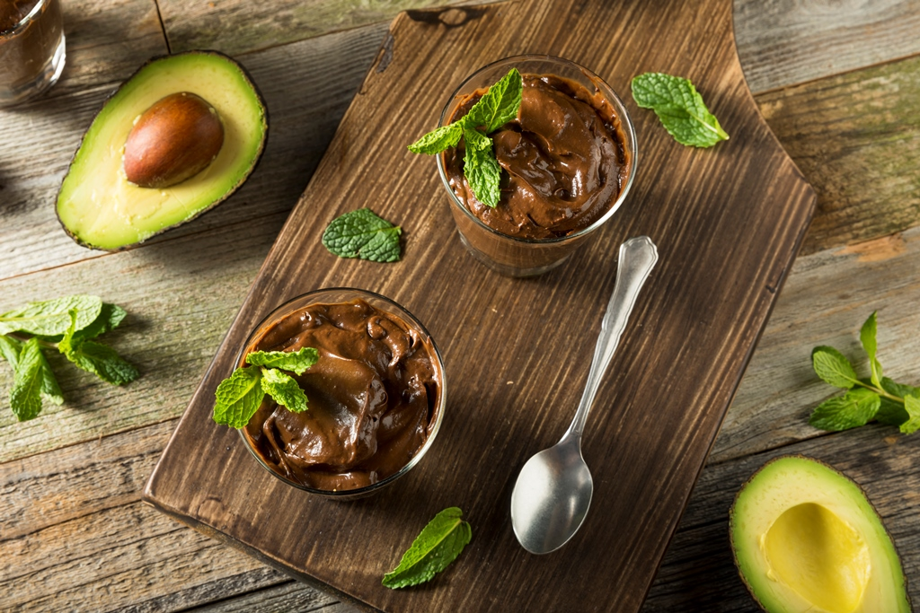Avocado Banana Chocolate Pudding