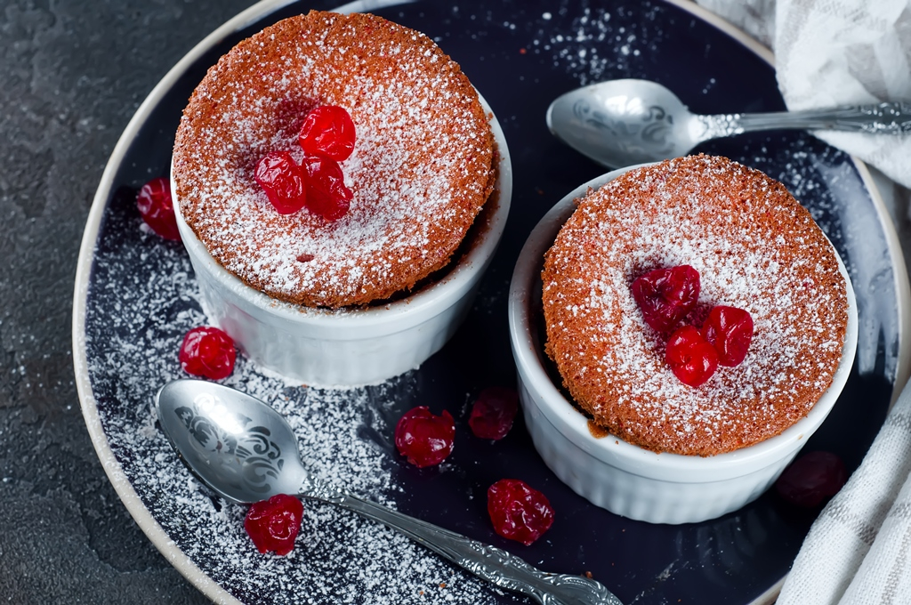 Homemade Cherry Souffle