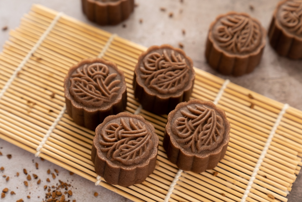 Chocolate Nutella Jelly Mooncakes