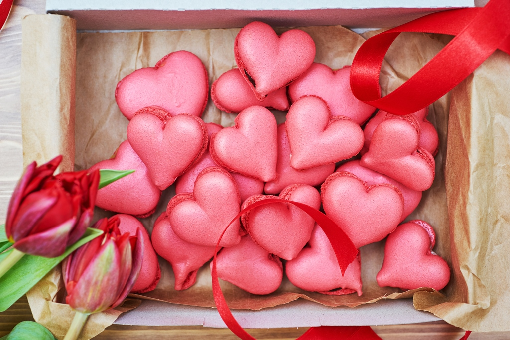 Heart-Shaped French Macarons