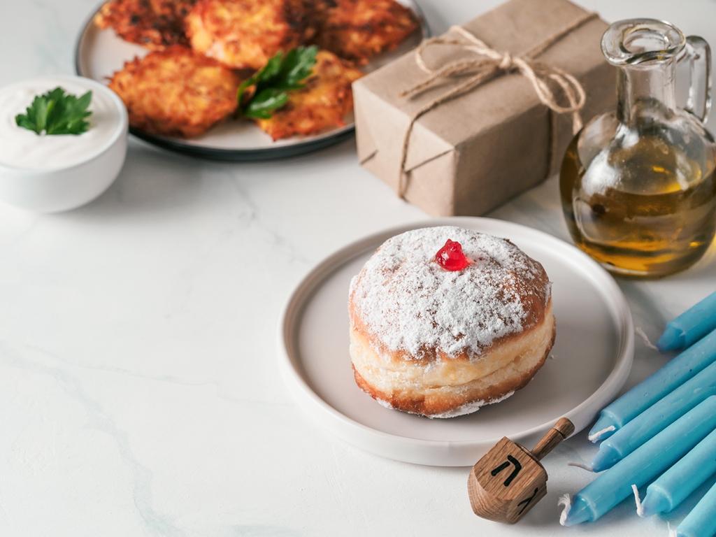 Hanukkah Sufganiyot Donuts