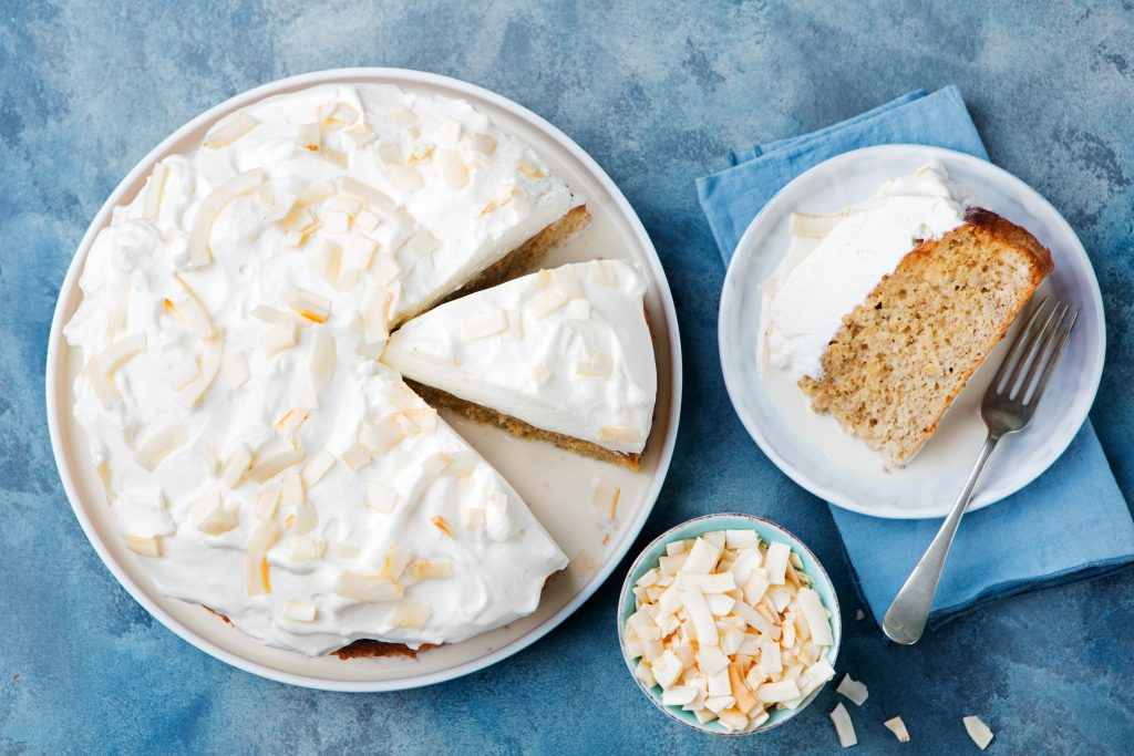 Tres Leches Cake with Coconut